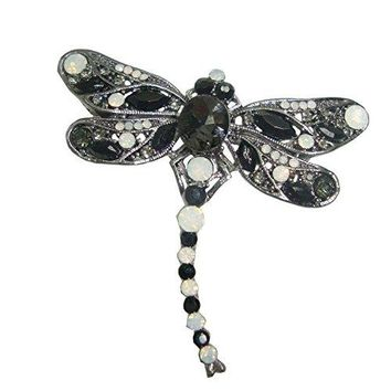 TTjewelry Little Dragonfly Bird Brooch Pin Rhinestone Crystal