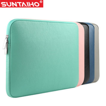 NEW PU Leather Waterproof Laptop Sleeve Bag Protective Zipper Notebook Case Computer Cover for 11 13 15inch For Macbook Air Pro