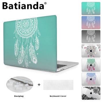 Colorful Gradient Color Cover Sleeve Case For Apple Mac book Pro Retina 13.3 12 15.4 Air 13 11 New Pro 13 15 Dream Catcher
