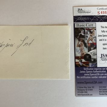 MARJORIE LORD SIGNED 3X5 INDEX CARD JSA COA AUTOGRAPH MAKE ROOM FOR DADDY