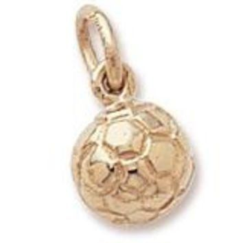 Soccer Ball Charm in Yellow Gold Plated
