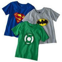Fruit Of The Loom® Boys 3-Pack Justice League Crew Tee -  Print
