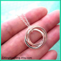 Trinity 2 Three circles sterling silver by RingRingRing on Etsy