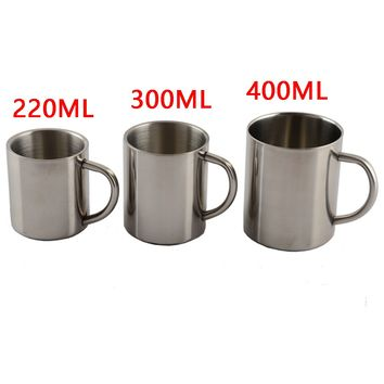New Fashion 1pcs New 220ml 300ml 400ml Stainless Steel Portable Mug Cup Double Wall Travel Tumbler Coffee Mug Tea Cup