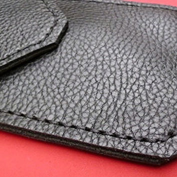 Black Leather Pocket Protector for mans shirt