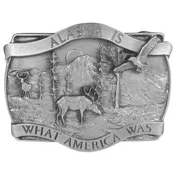 Sports Jewelry & AccessoriesSports Accessories - Alaska Is What America Antiqued Belt Buckle