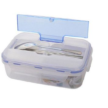 Microwave Food Grade Lunch Box With Soup Bowl Chopsticks Spoon