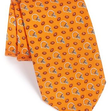 Men's Vineyard Vines 'Cleveland Browns - NFL' Woven Silk Tie, Size Regular - Orange