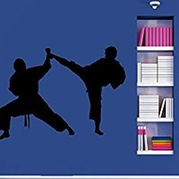 Wall Decal Vinyl Sticker Decals Art Decor Design kickboxing boxing Traning Workout Karate sports Mans Boys Bedroom Dorm Office Gym (r1052)