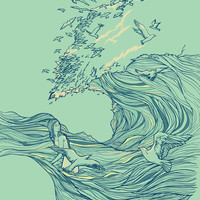 Ocean Breath Art Print by Chalermphol Harnchakkham | Society6