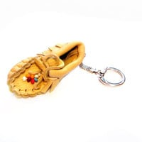 Native American Leather Moccasin Shoe Keychain / Fob