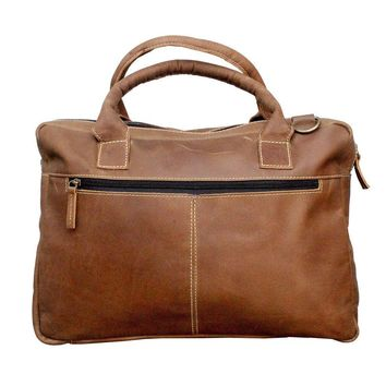 IN INDIA Rustic Shopping Styled Handsome Buffalo Leather Crafted Handbag Regular Use Carry Bag -Fits Laptop Upto 15.6 Inches