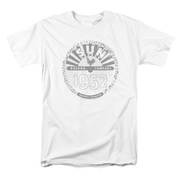 Sun Records Men's  Crusty Logo T-shirt White Rockabilia