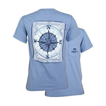 Southern Couture Priority Vintage Compass Pocket Unisex T-Shirt