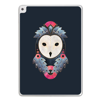 Owl Dark Background iPad Tablet Skin