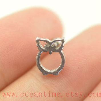 Tragus Earring Jewelry,owl ear piercing jewelry ,Cartilage earring,helix earring,girlfriend gift,oceantime
