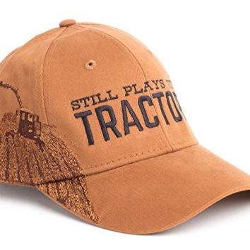 Still Plays with Tractors | Farmer Hat, Farming Humor Harvester Baseball Cap