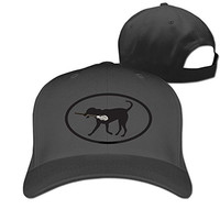 Dog Lacrosse Player Crosse Stick Stylish Baseball Fitted Cap