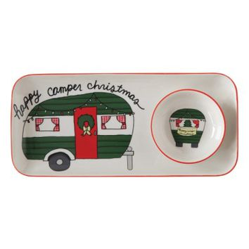 Creative Co-Op Happy Camper Christmas Serving Tray | Nordstrom