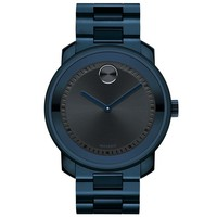 Movado Bold Ink Blue Stainless Steel Watch