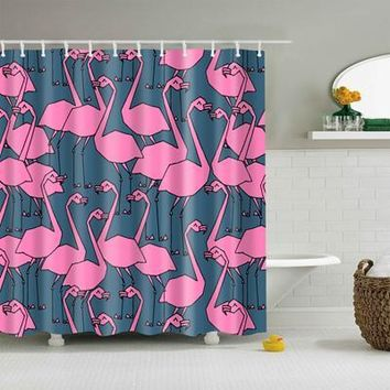 Ugly Drawing Flamingo Shower Curtain