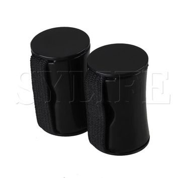 2 x Ukulele Guitar Black Finger Shot Rhythm Sand Shaker Ring Maracas Band