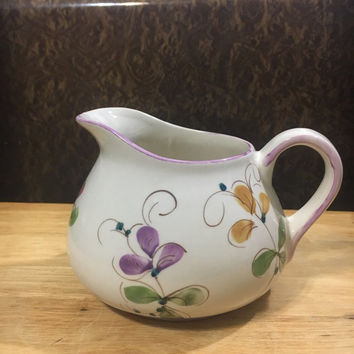Vintage Hand Painted Pitcher made in Portugal