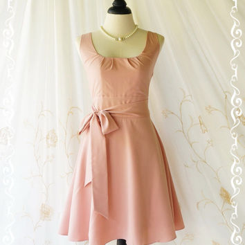 My Lady - Pale Pink Nude Sundress Vintage Design Pink Dress Prom Party Dress Bridesmaid Dress Vintage Tea Dress Party Sundress XS-XL Custom