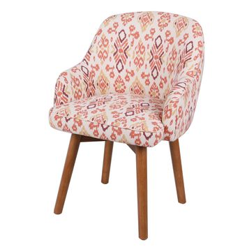 Terry Ikat Swivel Chair Amber Legs, Sundried Ikat