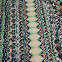 "Stripe Chevron Print ITY Knit Fabric, Polyester and Lycra Blend Multicolor 60"" Wide per Half Yard"