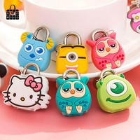 1 pcs Rose Diary silicone&Alloy cartoon mini Lock Padlock for diary books Luggage Bag Handbag Bag Parts Accessories