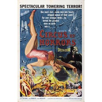 Circus Of Horrors Movie poster Metal Sign Wall Art 8in x 12in