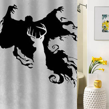 Cool Harry Potter silhouette shower curtain special custom shower curtains that will make your bathroom adorable