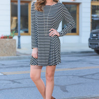 Searching For Love Dress, Black-Ivory