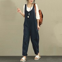 Women's Jumpsuit Romper Overalls in Three Colors