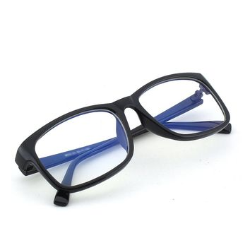 CGID CT12 Blue Light Blocking Glasses, Anti Glare Fatigue Blocking Headaches Eye Strain, Safety Glasses for Computer/Phone, Vintage Rectangle Black Frame,Transparent Lens