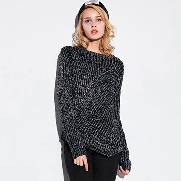 Irregular Weave Knitted Sweater