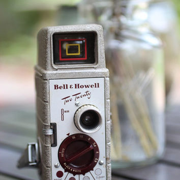 Vintage Bell & Howell Two Twenty 8mm Video Camera -FREE SHIPPING-