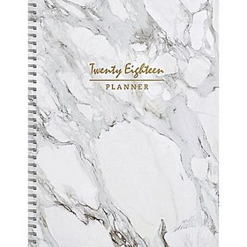 Tf Publishing 2018 Marble Large Weekly Monthly Planner (18-9741) | Staples