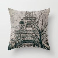 EIFFEL TOWER (Old plate camera) Throw Pillow by JAY'S PICTURES