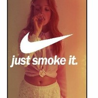 Just Smoke It, Girl Logo 355, iPhone 5 Premium Hard Plastic Case, Cover, Aluminium Layer, Movie Theme Shell