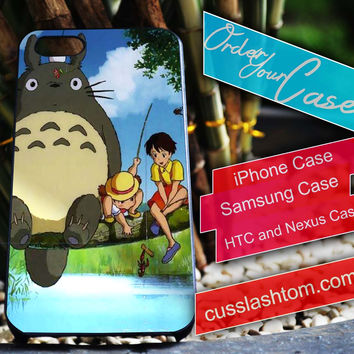 Exclusive Totoro Movie iPhone for 4 5 5c 6 Plus Case, Samsung Galaxy for S3 S4 S5 Note 3 4 Case, iPod for 4 5 Case, HtC One M7 M8