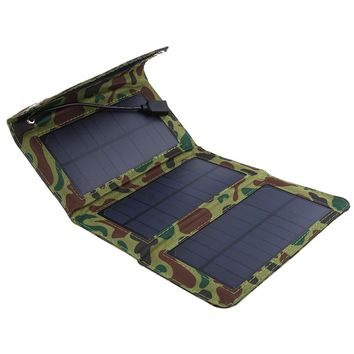 5W 5V Solar Panel USB Charger Camping Hiking Mobile USB Rechargeable Pad Outdoor Portable Phone Power Supply Outdoor Tools