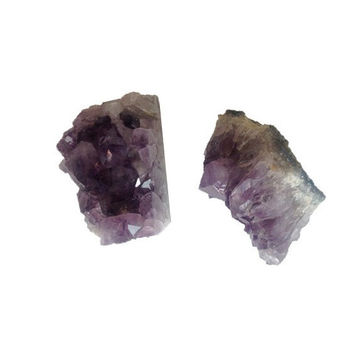 Geode Amethyst Bookends