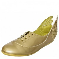 WINGS EASY FIVE MIRROR SHOES GOLD