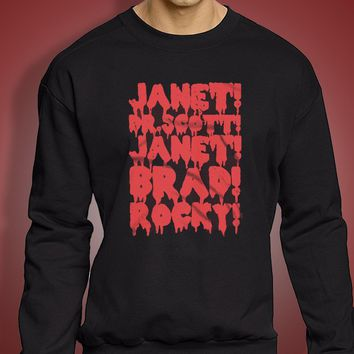 Rocky Horror Picture Show Janet Brad Dr Scott Frank N Furter Horror Musical Movie Men'S Sweatshirt