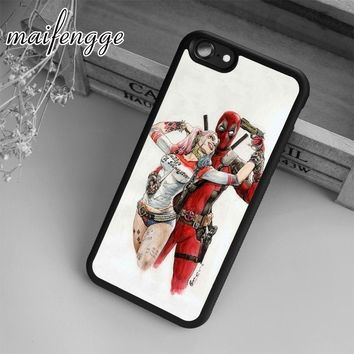 maifengge Deadpool and Harley Quinn Case For iPhone 6 6S 7 8 Plus X 5 5S SE Case cover for Samsung S5 S6 S7 edge S8 Plus shell