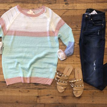 SALE! Shades of Spring Sweater