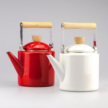 Retro Enamel Kettles, 2.2L Coffee and Tea Pot, Enamel kettle, Enamel Coffee pot, Kettle teapot. FREE SHIPPING