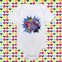 Cute Super hero baby shirt Onesuit, Cute Super hero baby clothing, Cute Super hero baby Onesuit